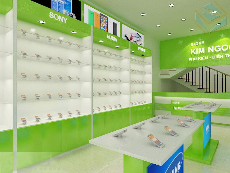 Thiết kế tủ trưng bày điện thoại
