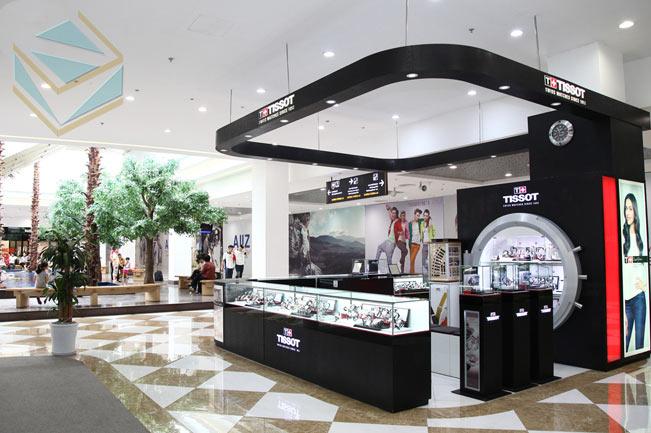 Thiết kế gian hàng kệ trưng bày shop bán đồng hồ