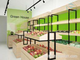 Kệ trưng bày cửa hàng trái cây
