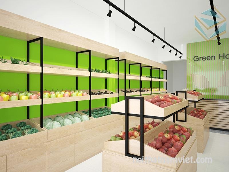 thiết kế thi công cửa hàng trái cây