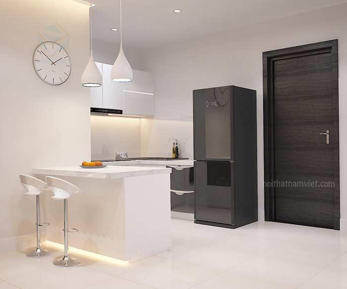 Thiết kế nội thất tủ bếp căn hộ Chị Thảo Gò Vấp