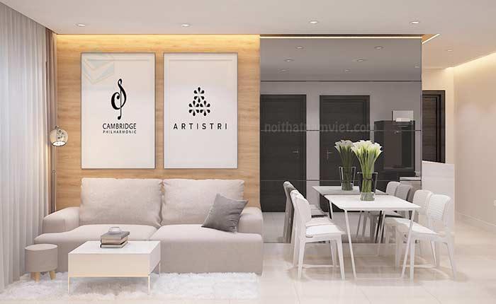 Thiết kế nội thất tủ bếp phòng ngủ phòng khách căn hộ