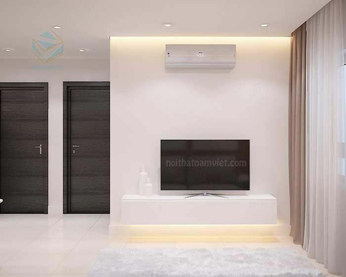 Thiết kế nội thất phòng khách căn hộ Chị Thảo