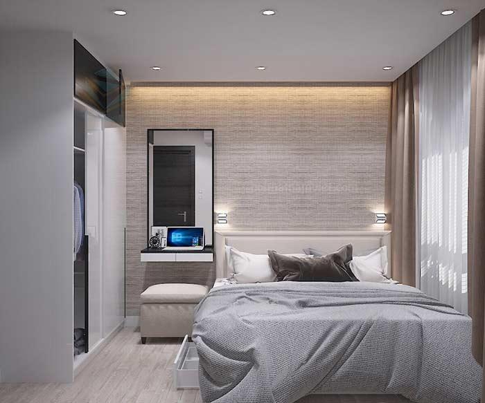 Thiết kế nội thất phòng ngủ  căn hộ Chị Thảo