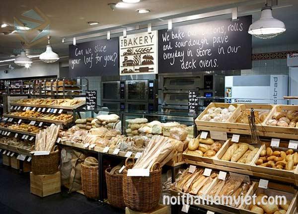 Thiết kế thi công cửa hàng bánh mì nhỏ và lớn