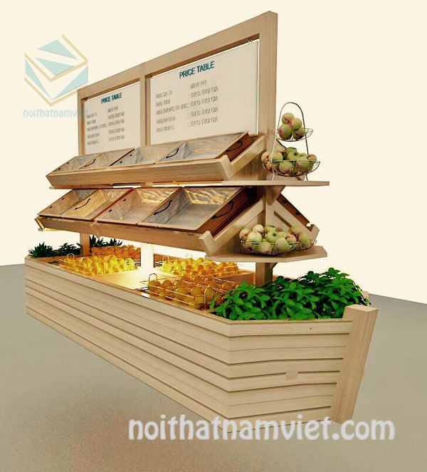 Thiết kế cửa hàng trái cây và rau sạch