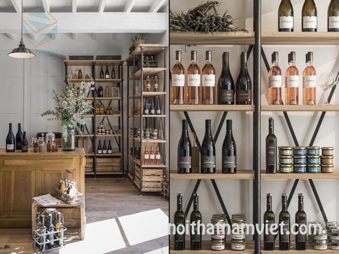 Thiết kế cửa hàng bán rượu vang