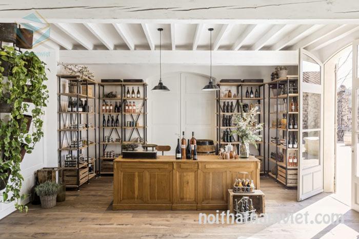 Thiết kế nội thất tủ trung bày bán rượu