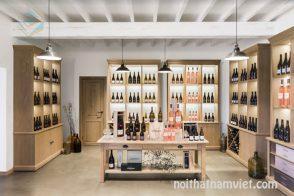 Thiết kế nội thất cửa hàng bán rượu vang