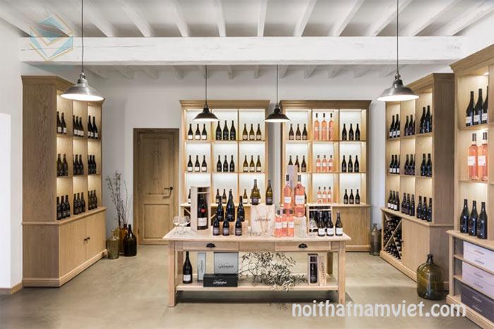 tủ trưng bày rượu