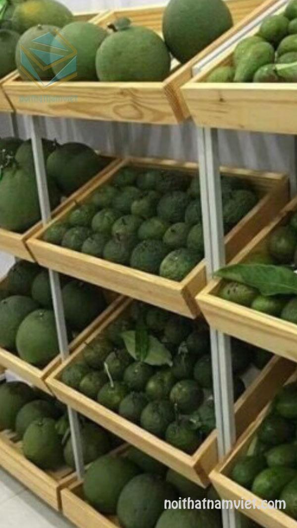 kệ trưng bày rau củ trái cây