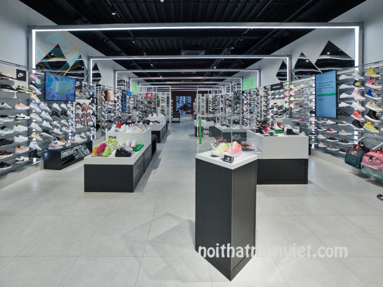 kệ trưng bày cửa hàng giày trẻ em