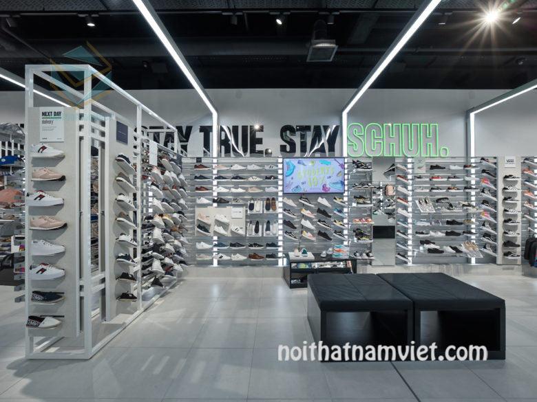 thiết kế cửa hàng giày thể thao