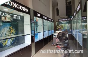 tủ trưng bày cửa hàng đồng hồ nam