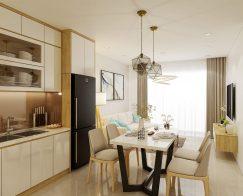 Thiết kế thi công nội thất nhà phố 2 tầng 2 phòng ngủ 80m2
