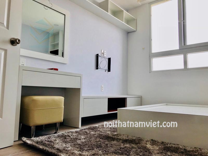 Thi công nội thất phòng ngủ căn hộ chung cư 60m2