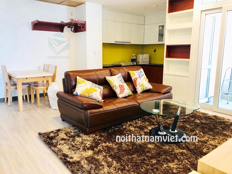 Thi công nội thất căn hộ chung cư 60m2 đẹp nhà anh Tân ở Quận 2