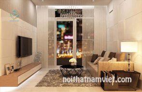 Thiết kế nội thất phòng khách và kệ tivi