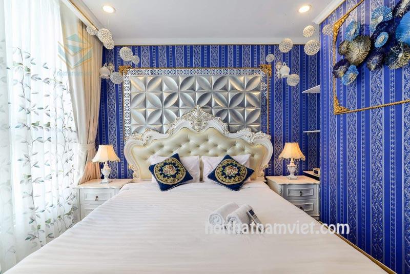 nội thất căn hộ cao cấp gỗ tự nhiên phong cách Tân Cổ điển