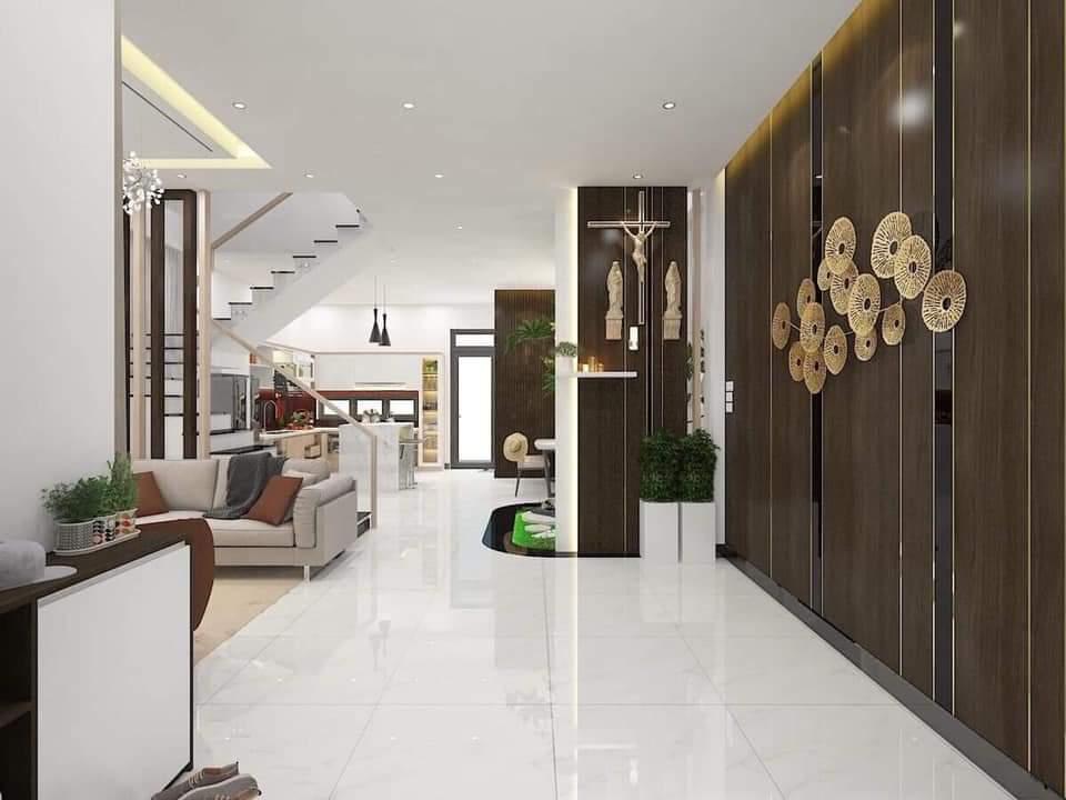 Toàn bộ không gian phòng khách phong cách hiện đại