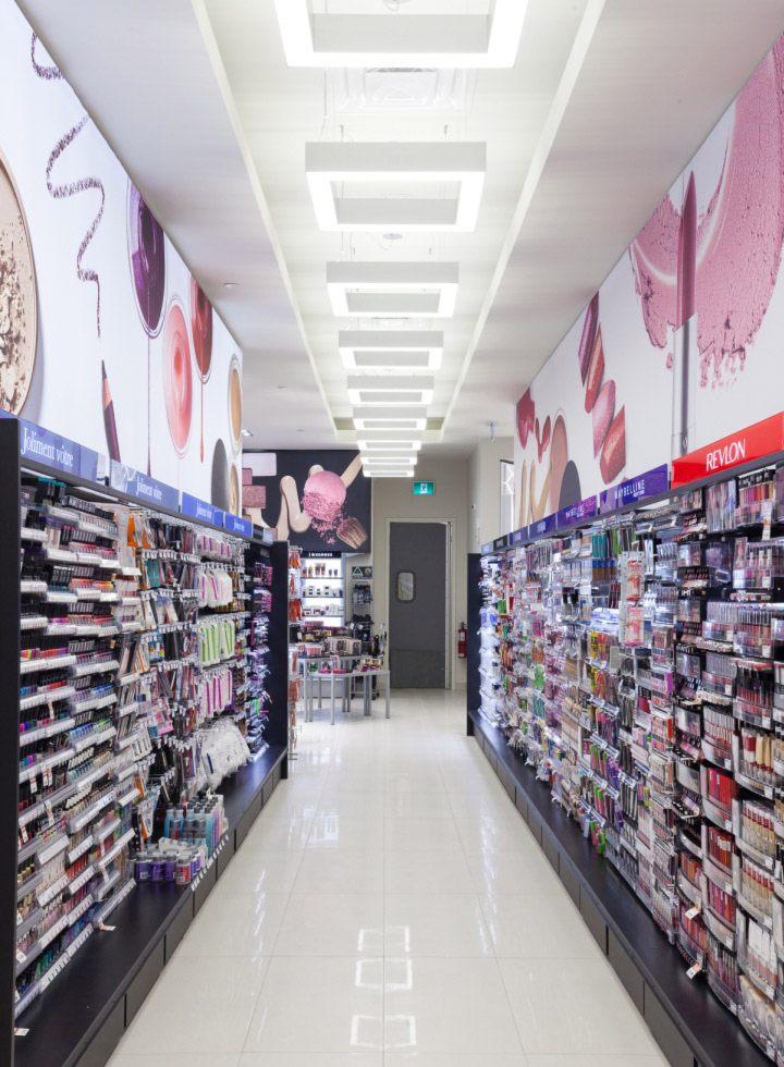 thiết kế thi công nội thất shop showroom trưng bày mỹ phẩm đẹp
