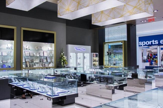 Thiết kế thi công cửa hàng trưng bày bán trang sức vàng bạc đá quý