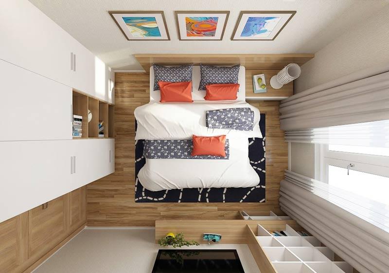 thi công nội thất phòng ngủ cho căn hộ